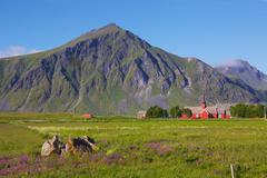 Church on Lofoten, Norway Stock Photos