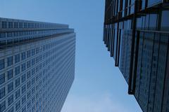 Canary Wharf skyscrapers Stock Photos