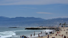 Venice Beach 03 Summer Resort California - stock footage
