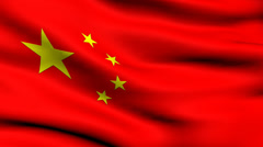 Stock Video Footage of China Flag looping background