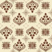 Art nouveau pattern Stock Illustration