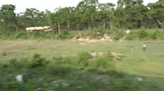 Outside fast shot from a running train. Stock Footage