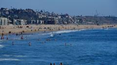 Venice Beach 05 Summer Resort California - stock footage