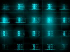 Data Number Stock Footage