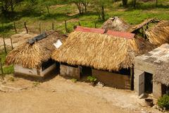 Peru, peruvian amazonas landscape. the photo present typical indian tribes se Stock Photos