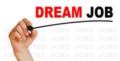 Dream job Stock Illustration