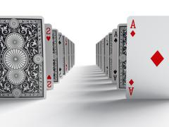 the cards - stock illustration