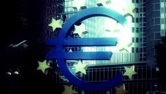 Euro Sign Frankfurt FX4 Stock Footage
