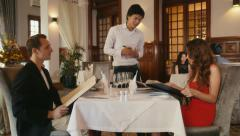 15of26 People dining at restaurant, leisure in hotel, man, woman Stock Footage
