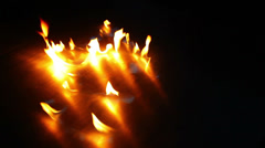 Fire dancing on reflective surface Stock Footage