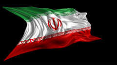 Flag of Iran Stock Footage