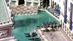 Las Vegas Hotels Strip People Stock Footage