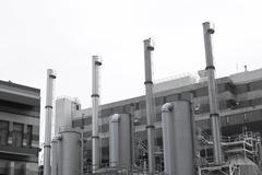 Petrochemical plants in Hong Kong - stock photo