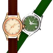 leather strap watch. - stock illustration