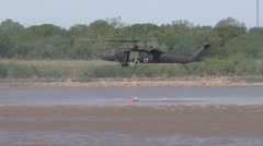Oklahoma Army National Guard Drops Water for Fire Support Stock Footage