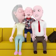 Happy family. Stock Illustration