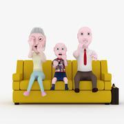 happy family. - stock illustration