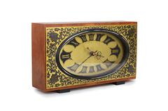 Vanha antiquarian kello eristetty valkoinen Kuvituskuvat
