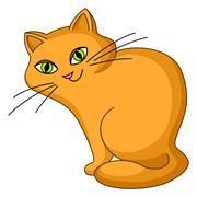 Cat kind sits Stock Illustration