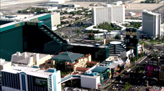 Las Vegas Hotels Strip Stock Footage