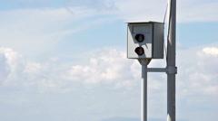 High-speed surveillance camera on highway Stock Footage