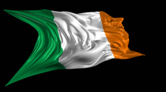 Flag of Ireland Stock Footage