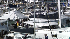 Boats docked in Miami Stock Footage