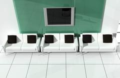 Stock Illustration of white sofa