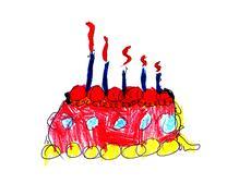 Celebratory pie Stock Illustration