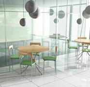 Dining table in cafe Stock Illustration