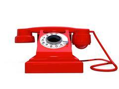 Red retro telephone Stock Illustration