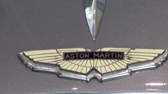 Aston Martin badge Stock Footage