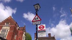 Harrow School Bus Stop Stock Footage