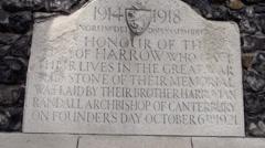 Harrow Memorial stone Stock Footage