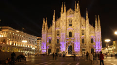 Milan: the Duomo Stock Footage