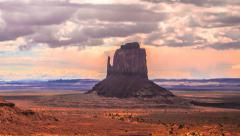 Timelapse Clouds over Monument Valley, Arizona, Utah Stock Footage