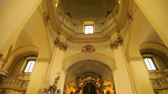 St.Yura Cathedral, church interior 1 Stock Footage