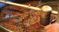 roasted coffee beans in the machine 4 Footage