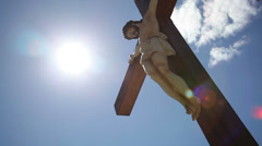 Stock Video Footage of Jesus Christ crucified on the cross