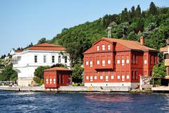 Bosphorus Houses at Kanlica in Istanbul - stock photo