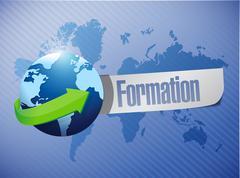 Stock Illustration of formation sign illustration design