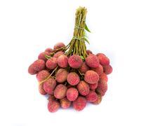 Fresh of litchi fruit on white background Stock Photos