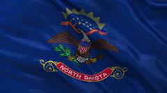 US state flag of North Dakota - seamless loop Stock Footage