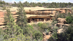 Mesa Verde Spruce Tree House Indian cliff house zoom 4K 070 Stock Footage