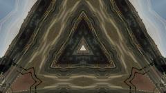 Timelapse symetric mandala Stock Footage