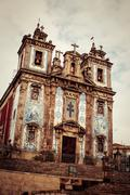 Church of santo ildefonso in porto, portugal Stock Photos