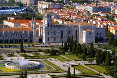 panorama of hieronymites monastery is located in the belem district of lisbon - stock photo