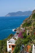 Beautiful coastline in cinque terre, liguria, italy Stock Photos