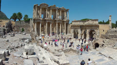 Library of Celsus Stock Footage
