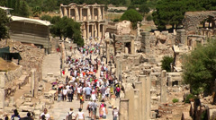 Ephesus Antic city in Izmir in Turkey - stock footage